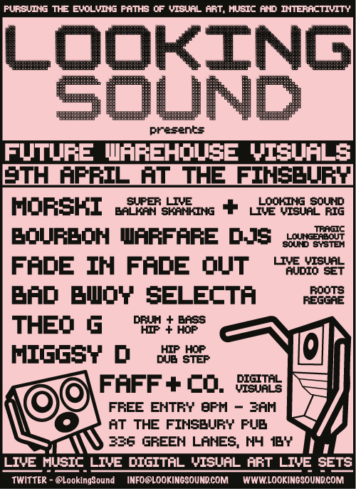 NEXT LOOKING SOUND 9th April - Finsbury Pub near manor house tube