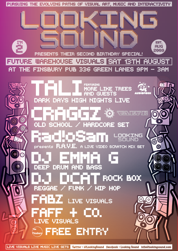 NEXT LOOKING SOUND 13th August featuring Tali and Craggz - Finsbury Pub near manor house tube